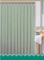 Aqualine Závěs 180x200cm, 100% polyester, jednobarevný zelený 0201104 Z