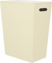 Sapho ECO PELLE koš na prádlo 43x48x26cm, krémová 2462CR