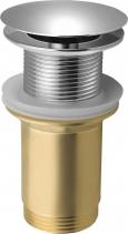 Aqualine Neuzavíratelná výpust pro umyvadla bez přepadu, velká zátka, V 10-50mm, chrom TF6001