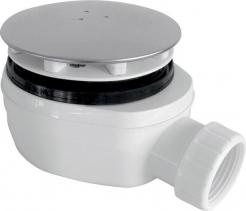 Gelco GELCO vaničkový sifon, průměr otvoru 90 mm, DN40, nízký, krytka leštěná nerez PB90EXN