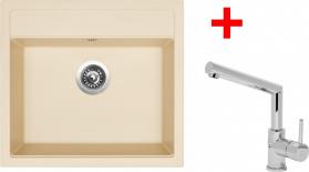 Granitový dřez Sinks SOLO 560 Sahara+MIX 350P ACRS56050M350P