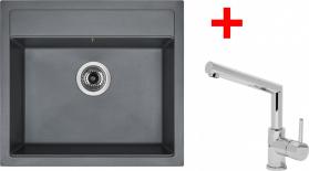 Granitový dřez Sinks SOLO 560 Titanium+MIX 350P ACRS56072M350P