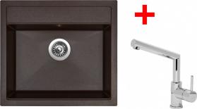Granitový dřez Sinks SOLO 560 Marone+MIX 350P ACRS56093M350P