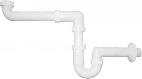 Sapho Umyvadlový sifon šetřící místo 1'1/4 odpad 40 mm, bílá CV1029