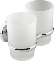 Aqualine SAMBA dvojitý držák skleniček, mléčné sklo SB105