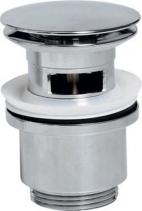 Sapho Slotted Click-Clack Washbasin Waste, big plug/chrome CV1007