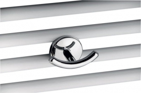 Aqualine Towel Radiator Robe Double Hook (for straight and curved ladder rails), chrome 1801-23