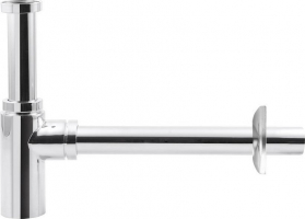 Aqualine Washbasin Waste Trap 5/4' dia 32mm, round/chrome CV1003