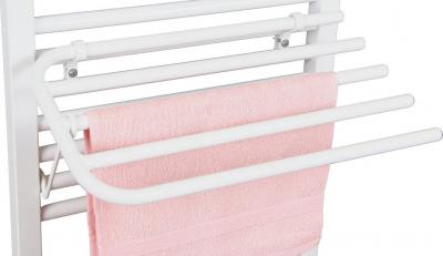 Aqualine Sušák 4 ručníků na otopná tělesa, univerzální upínání, délka 50cm, bílá 25-03-SV450