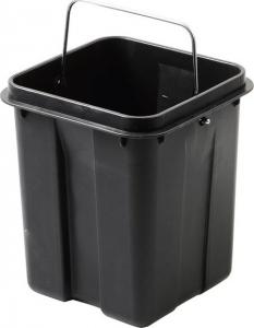 Aqualine SIMPLE LINE odpadkový koš hranatý 6l, leštěná nerez GAQ006