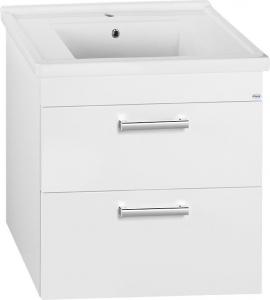 Aqualine POLY umyvadlová skříňka 76x66, 6x46, 5cm, 2xzásuvka, bílá PL080