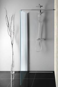 Aqualine WALK-IN zástěna jednodílná k instalaci na zeď, 900x1900 mm, sklo Brick WI090