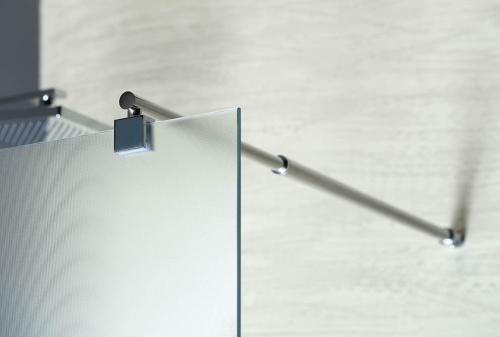 Aqualine WALK-IN zástěna jednodílná k instalaci na zeď, 800x1900 mm, sklo Brick WI080