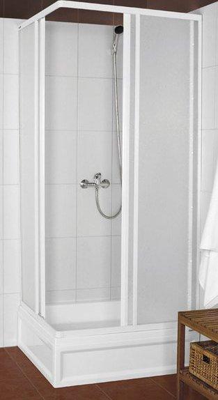 Aqualine KNS čtvercová sprchová zástěna 900x900mm, bílý profil, polystyren výplň KNS-C-90