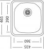 Nerezový dřez Sinks COMPACT 435 M 0,5mm matný STSCMM4354655M