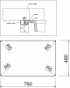 Granitový dřez Sinks AMANDA 780 Titanium+MIX 3P GR TLA780M3P72