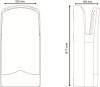 Sapho V-JET tryskový osoušeč rukou 1760 W, stříbrná 01303.S