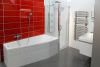 Gelco ONE sprchová zástěna oddělující vanu a sprchový kout, 800x800 mm, čiré sklo GO3780