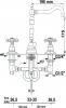 Reitano Rubinetteria ANTEA tříprvková umyvadlová baterie s retro hubicí, s výpustí, chrom 3221