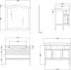 Gallo Wood IRIS DEC 110-S skříňka s umyvadlem, š. 110cm, mramor Bianco Carrara, avorio dek ID-110
