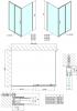 Polysan Easy Line čtvercový sprchový kout 1000x1000mm L/P varianta EL1015EL3415