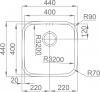 Nerezový dřez Sinks BAHIA 440 V 0,8mm spodní leštěný RDBAL440440U8V