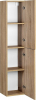 Aqualine ZOJA/KERAMIA FRESH skříňka vysoká 30x140x25cm, dub platin 51157