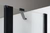 Polysan ZOOM LINE BLACK sprchové dveře 1300mm, čiré sklo ZL1313B