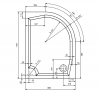 Gelco RIVA sprchová vanička z litého mramoru, čtvrtkruh 120x90cm, levá (GR1290L) GR12090L