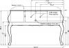 Gallo Wood GIOVE 130-S skříňka s umyvadlem, š. 125cm, mramor Silvia Oro, noce GV-130S