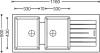 Granitový dřez Sinks PERFECTO 1160 DUO Metalblack MP177490