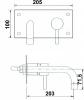 Sapho RHAPSODY podomítková umyvadlová baterie, délka hubice 203mm, chrom 5593