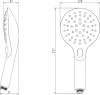 Sapho Ruční sprcha s tlačítkem, 6 režimů sprchování, průměr 120mm, ABS/chrom/bílá 1204-20