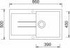 Granitový dřez Sinks AMANDA 860 Metalblack+MIX 3P GR TLA860M3P74