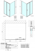 Polysan Easy Line obdélníkový sprchový kout 1400x800mm L/P varianta EL1415EL3215