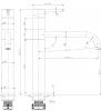 Sapho SIRA stojánková dřezová baterie, výška 311 mm, chrom SI311
