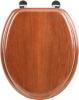 Aqualine AQUALINE WC sedátko, MDF, třešeň 1705-12