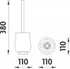 Nimco Lada stojánková Toaletní WC kartáč 1094LA-65