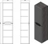 Sapho WAVE skříňka vysoká 35x140x30cm, levá/pravá, bílá WA244LP