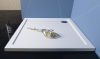 Polysan AURA sprchová vanička z litého mramoru, čtverec 90x90x4cm, bílá 43511