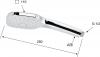 Sapho Ruční masážní sprcha s tlačítkem, 4 režimy sprchování, 100x100mm, ABS/chrom 1204-24