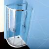 Polysan EASY LINE čtvrtkruhová sprchová zástěna 900x900mm, L/R, čiré sklo EL2615