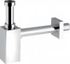Sapho PIQUADRATO umyvadlový sifon 1'1/4, odpad 32 mm, ABS-chrom 0510OT25K7