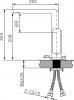 Sapho MIXONA dřezová / umyvadlová baterie, stojánková, chrom MG055