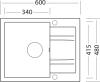 Granitový dřez Sinks LINEA 600 Granblack SIGLI60048030