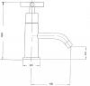 Reitano Rubinetteria AXIA stojánkový umyvadlový ventil, chrom 512