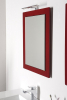 Sapho MITRA zrcadlo v rámu 920x720x40mm, bordó MT183