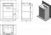 Aqualine POLY umyvadlová skříňka 51, 8x74, 6x44 cm, 1xdvířka, bílá PL052