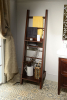 Sapho CALANDERA dřevěný stojan na ručníky s poličkou 50x180x47cm, mahagon CR021