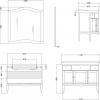 Gallo Wood IRIS GLASS 110-S skříňka s umyvadlem, š. 110cm, noce IG-110